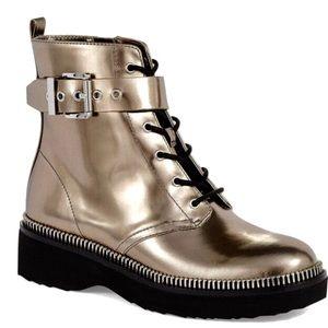 Michael Korse Vivia Metallic Combat Boots